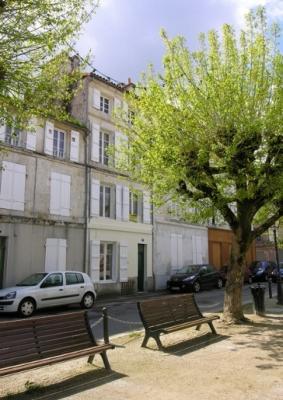 main façade onto the square