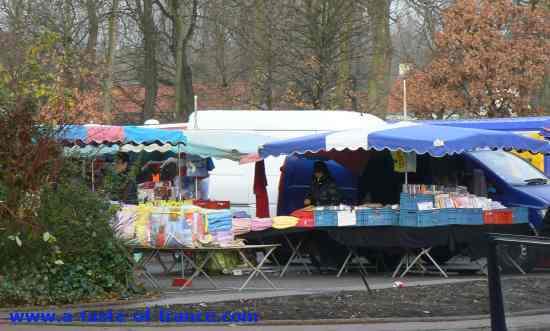 Ardres market stalls picture