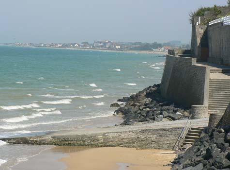 Arromanches les bains sea wall Calvados  Normandy