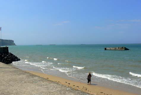 Arromanches les bains gold beach Calvados  Normandy