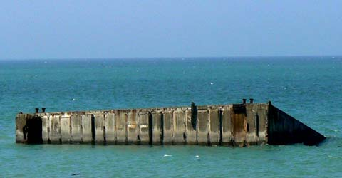 Arromanches les bains mulberry harbour France Calvados  Normandy