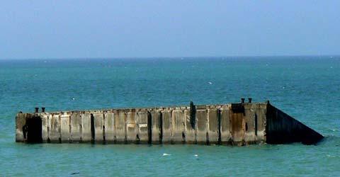 Arromanches les bains mulberry harbour France Calvados  Normandy
