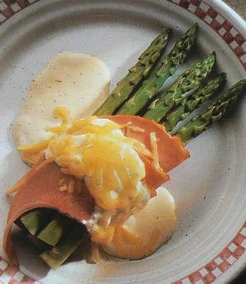 Asparagus and ham gratin picture