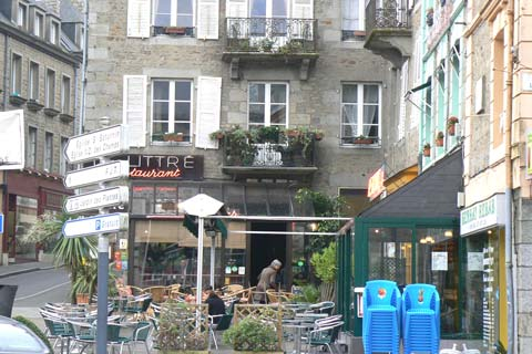 Avranches town centre Manche Normandy