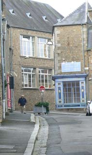 Avranches street Normandy