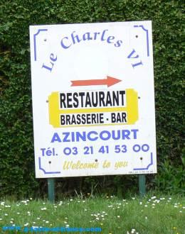 village restaurant Azincourt