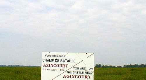 Azincourt battle ground France