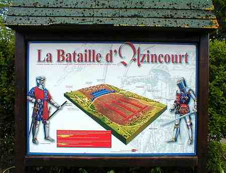 Azincourt battle sign france