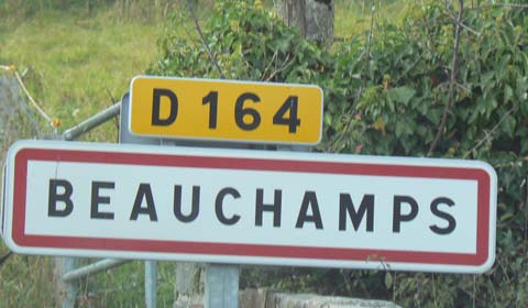 Beauchamps sign manche Normandy