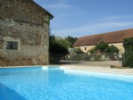 Heated pool (now fenced)