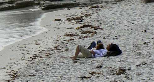 Beg Meil beach Brittany