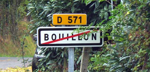Bouillon sign Manche Normandy