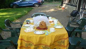 breakfast in Normandy France