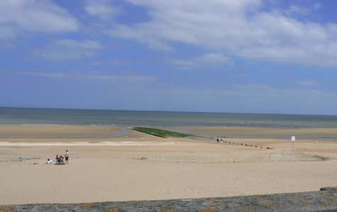 Cabourg beach  Calvados  Normandy