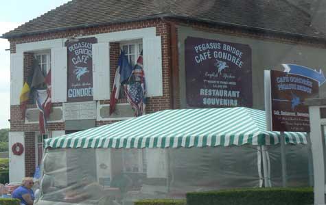 cafe gondree pegasus bridge Calvados Normandy