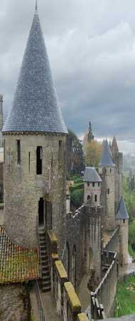 Carcassone castle walls