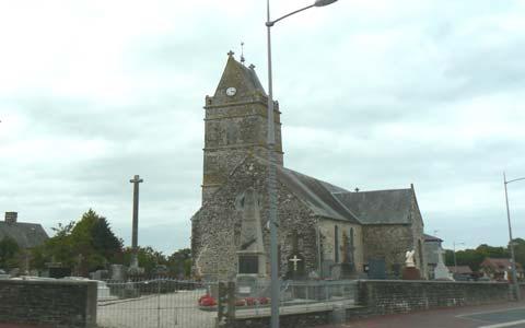 Champrepus church Manche Normandy