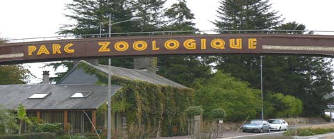 Champrepus Zoo sign manche Normandy