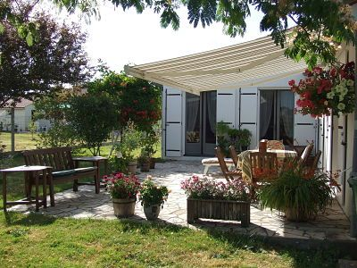 Side Terrace with Sun Awning