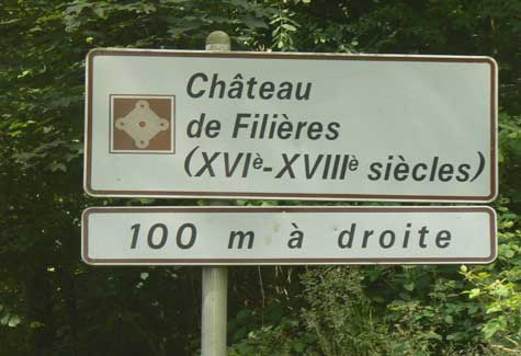 Chateau de Filieres sign Normandy