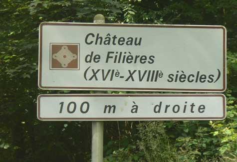 Chateau de Filieres sign Normandy