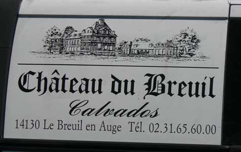 Chateau du Breuil  sign Normandy