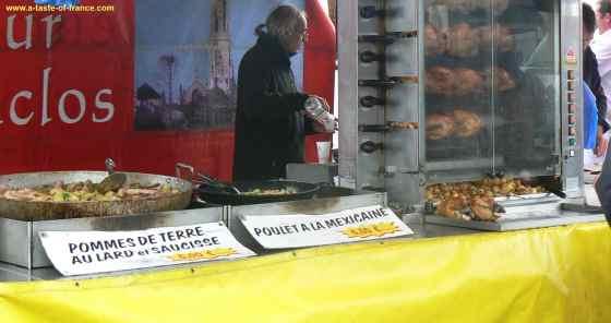 Roscoff chicken stall