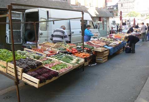 Cormeilles market Normandy