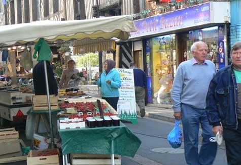 Cormeilles Normandy street market