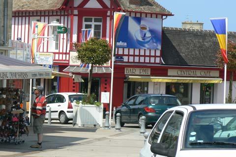 Courseulles sur Mer street Calvados Normandy