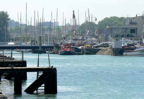 Courseulles sur mer harbour France Calvados Normandy
