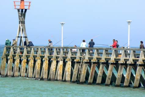 Courseulles sur mer pier harbour France Calvados Normandy