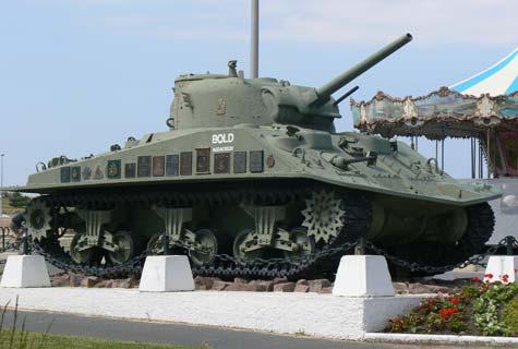Courseulles sur Mer tank  Calvados  Normandy