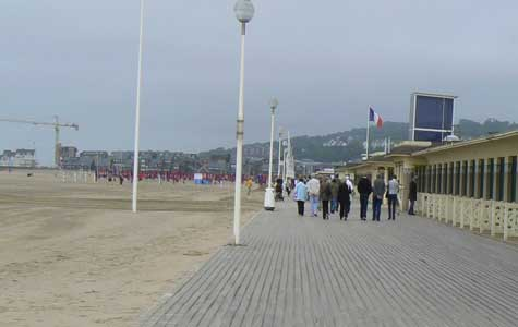 Deauville beach broadwalk Calvados Normandy