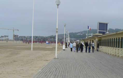Deauville beach broadwalk Calvados Normandy