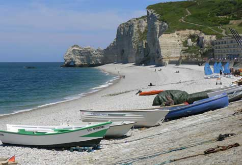 Etretat beach Calvados Normandy