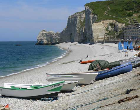 Etretat beach Normandy