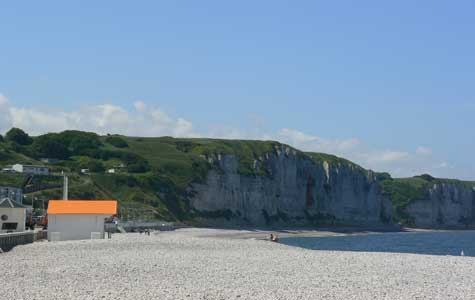 Fecamp beacg Calvados  Normandy