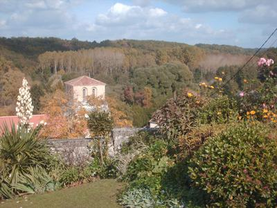View from Kitchen over looking Cellefrouin Village with Normandy church.