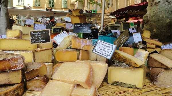 photo of the day in France cheese stall