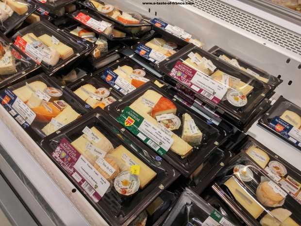 Cheese selection in French supermarket  picture
