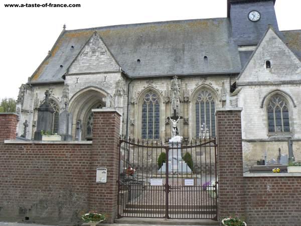 The village of Fressin church
