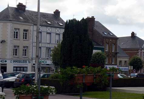 Goderville street Normandy