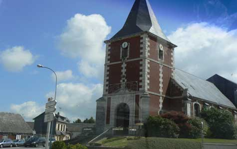 Gommerville church Normandy
