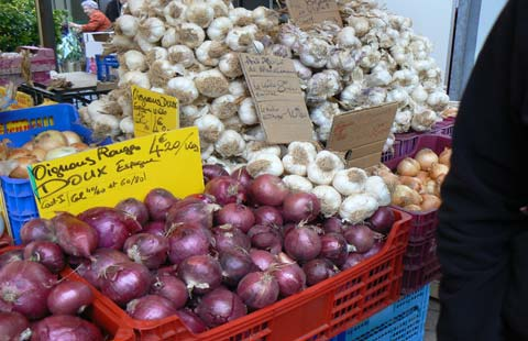 granville onion stall Manche  Normandy