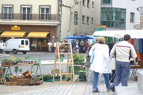 granville market stall Manche  Normandy