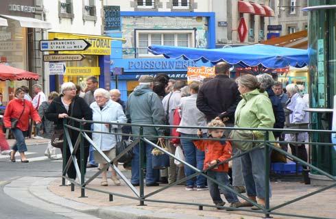 Granville fish stall La Manche Normandy