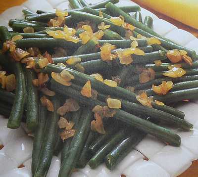 french green beans with onion picture