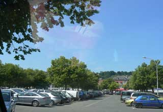 Honfleur car park Normandy