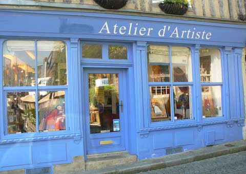 Honfleur Normandy artist shop
